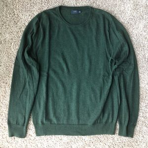Men's J. Crew Sweater in Dark Green (Size Medium)